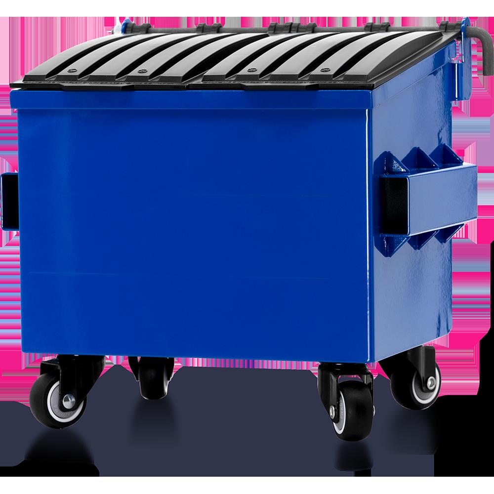 Dumpsty Mini Steel Desktop Dumpster in Blue